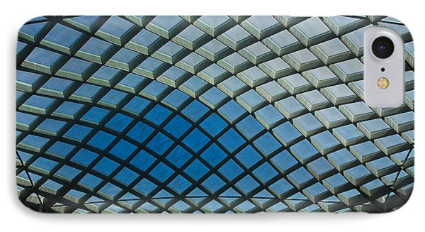 Kogod Courtyard Ceiling #2 IPhone Case by Stuart Litoff