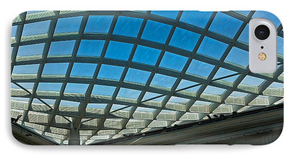 Kogod Courtyard Ceiling #3 IPhone Case by Stuart Litoff