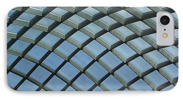Kogod Courtyard Ceiling #5 IPhone Case by Stuart Litoff
