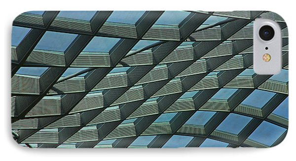Kogod Courtyard Ceiling #6 IPhone Case by Stuart Litoff