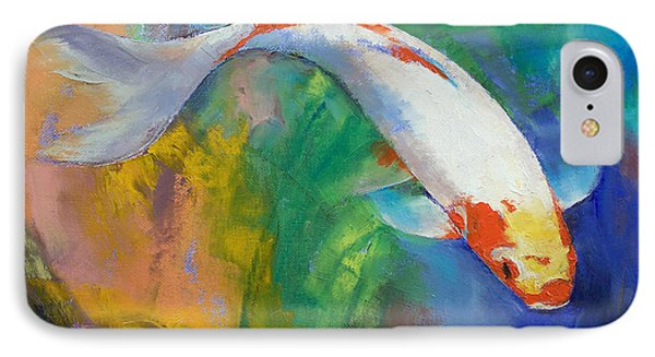 Koi Art Pirouette IPhone Case by Michael Creese