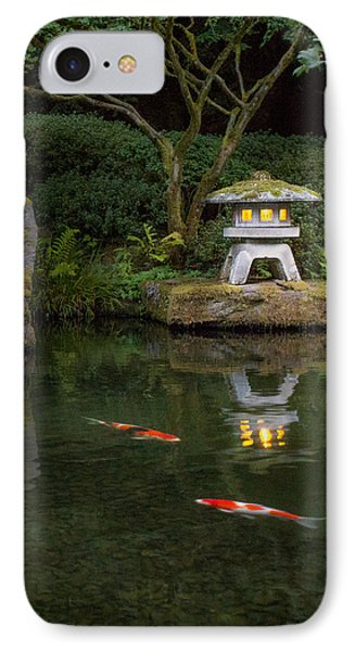 Koi By Lantern Light IPhone Case by Lori Grimmett