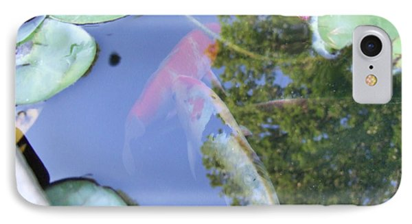IPhone Case featuring the photograph Koi by Deborah DeLaBarre
