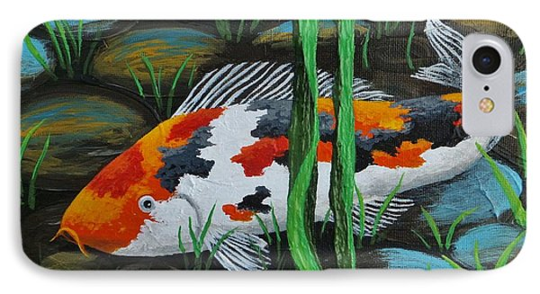 Koi Fish IPhone Case by Katherine Young-Beck