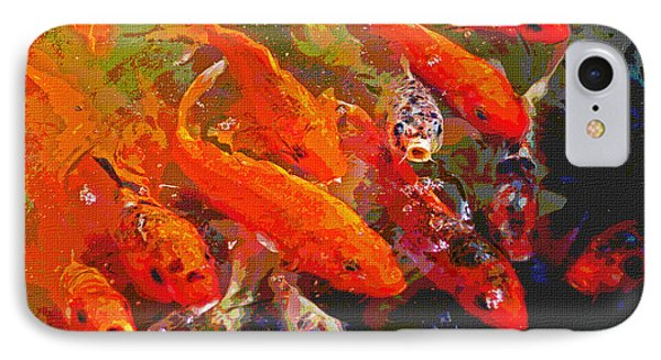 Koi Fish  IPhone Case by Tom Janca