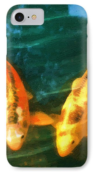 IPhone Case featuring the painting Koi Friends by Doug Kreuger