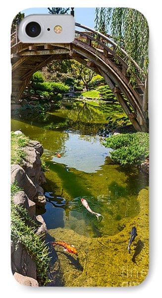 Koi Garden - Japanese Garden At The Huntington Library. IPhone Case by Jamie Pham