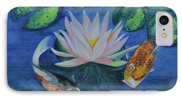 Koi In The Lily Pond IPhone Case by Suzette Kallen