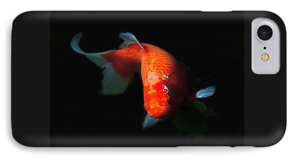 Koi IPhone Case by Rona Black