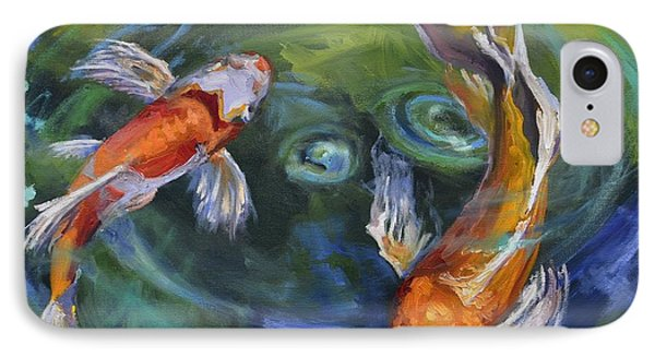 Koi Swirl IPhone Case by Donna Tuten