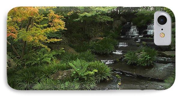 Kokoen Garden Waterfall - Himeji Japan Phone Case by Daniel Hagerman