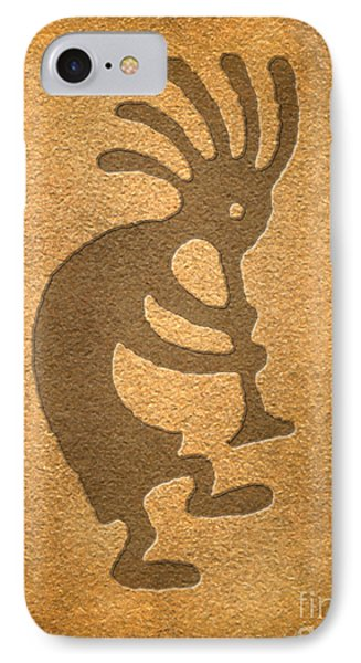 IPhone Case featuring the digital art Kokopelli 1 by Cristophers Dream Artistry