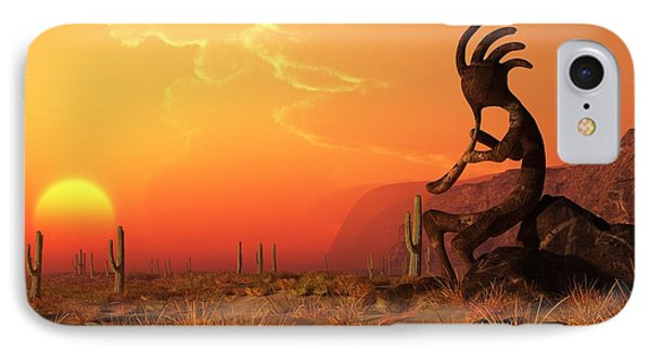 Kokopelli Sunset IPhone Case by Daniel Eskridge