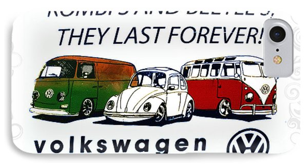 Kombis And Beetles Last Forever Phone Case by Bill Cannon