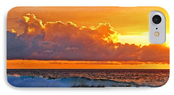 IPhone Case featuring the photograph Kona Golden Sunset by David Lawson