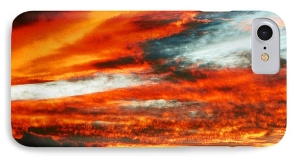 IPhone Case featuring the photograph Kona Sunset 77 Lava In The Sky  by David Lawson