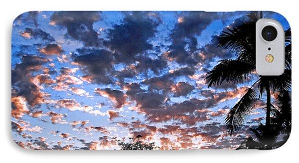 Kona Sunset IPhone Case by David Lawson