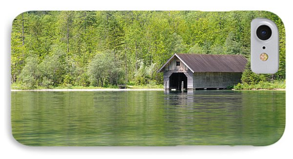 IPhone Case featuring the photograph Konigsee Boathouse by Jeremy Voisey