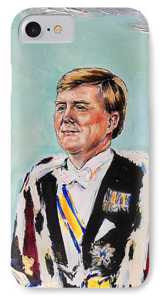 Koning Willem Alexander IPhone Case by Lucia Hoogervorst