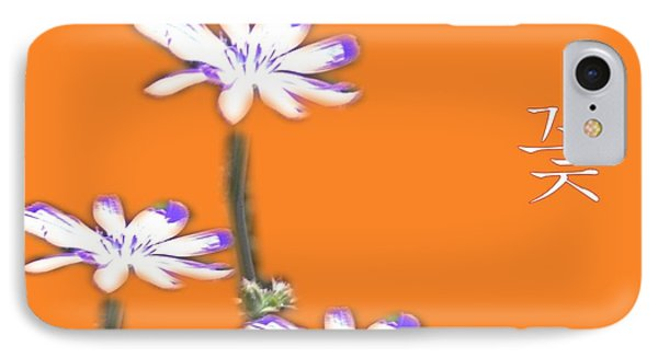 Korean Flower IPhone Case by Terence Morrissey