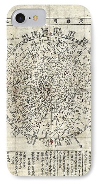 Korean Star Chart IPhone Case by Library Of Congress, Geography And Map Division