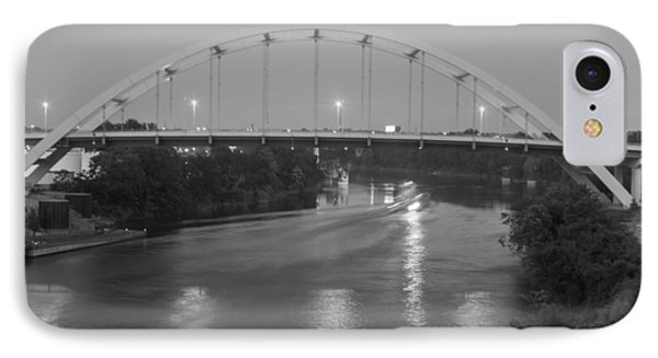 IPhone Case featuring the photograph Korean Veterans Bridge At Night by Robert Hebert