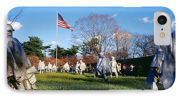 Korean Veterans Memorial Washington Dc IPhone Case by Panoramic Images