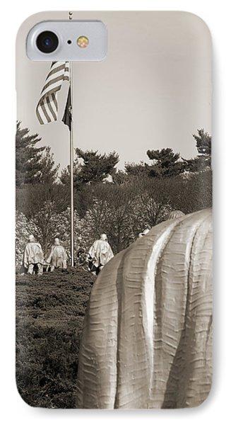 Korean War Memorial  2 - Washington D.c. IPhone Case by Mike McGlothlen