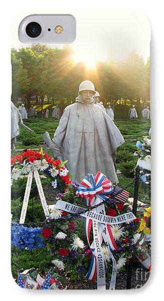 Korean War Memorial In Dc IPhone Case by Olivier Le Queinec