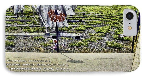Korean War Memorial Washington D.c. IPhone Case by Bob and Nadine Johnston