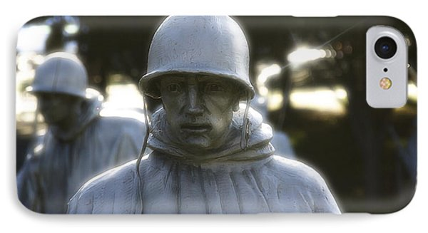 IPhone Case featuring the photograph Korean War Soldier 2 by Nicola Nobile