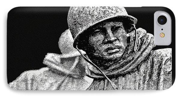 Korean War Veterans Memorial IPhone Case by Bob and Nadine Johnston