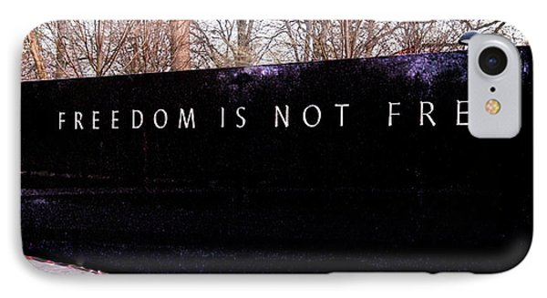 Korean War Veterans Memorial Freedom Is Not Free IPhone Case by Bob and Nadine Johnston
