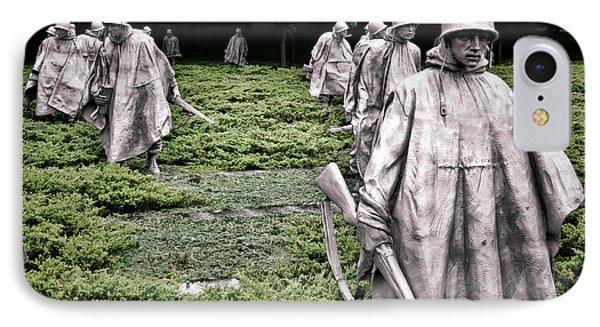 Korean War Veterans Memorial IPhone Case by Olivier Le Queinec