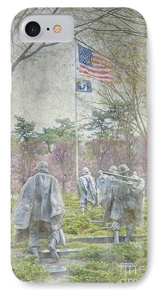 Korean War Veterans Memorial Washington Dc Beautiful Unique   IPhone Case by David Zanzinger