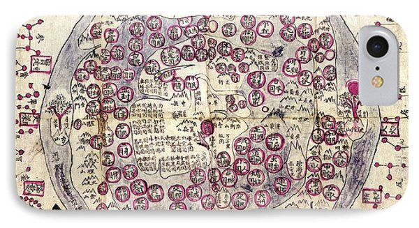 Korean World Map IPhone Case by Library Of Congress, Geography And Map Division