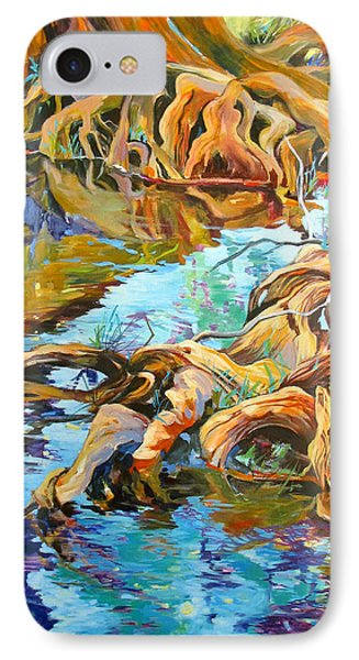 IPhone Case featuring the painting Krause Springs Creepers by Rae Andrews