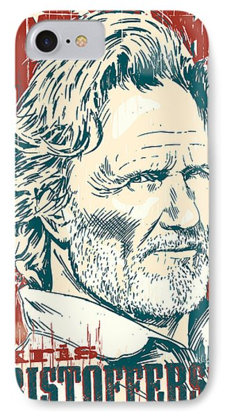 Kris Kristofferson Pop Art IPhone Case by Jim Zahniser