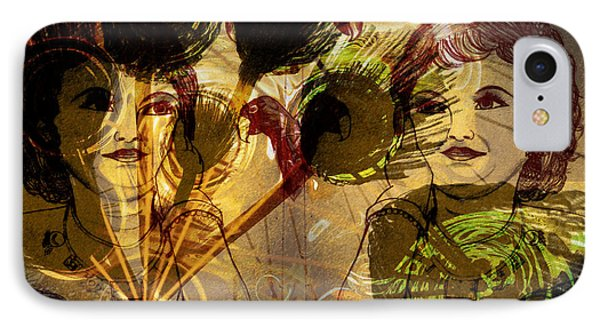 Krishna Abstract Art IPhone Case by Artist Nandika  Dutt