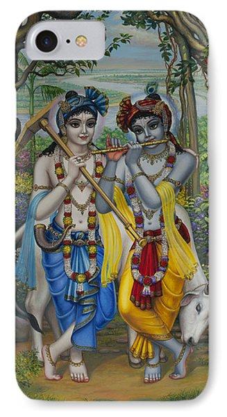 Krishna And Balaram Phone Case by Vrindavan Das