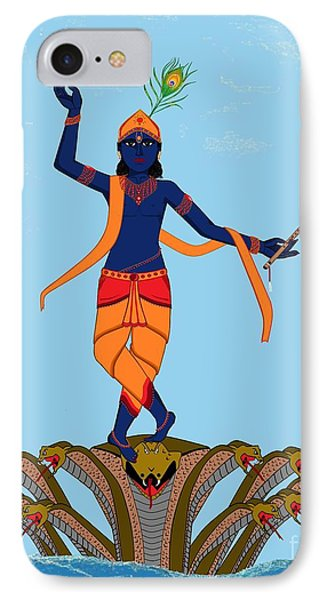 Krishna Dancing On Kaliya IPhone Case