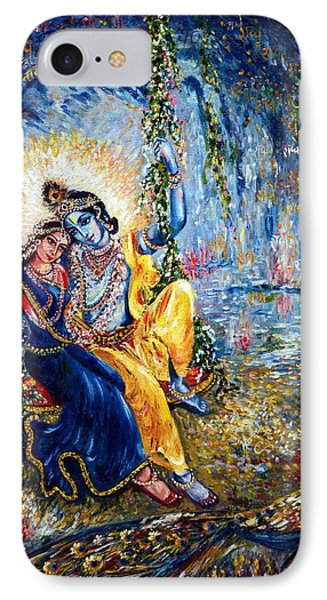 Krishna Leela IPhone Case by Harsh Malik