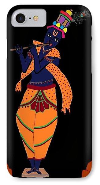 Krishna Playing Flute IPhone Case