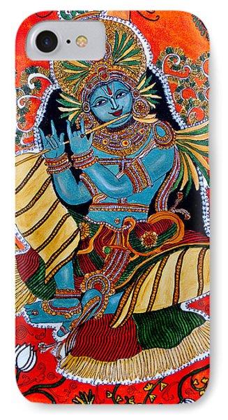 IPhone Case featuring the painting Krishna by Saranya Haridasan