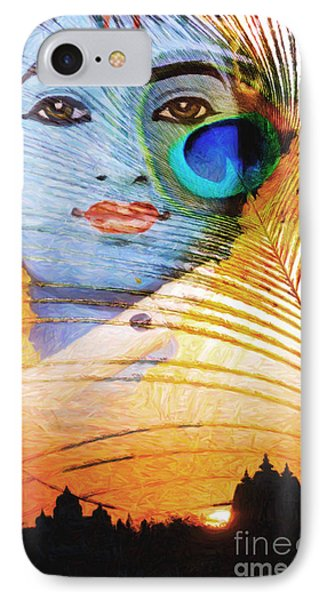 Krishna Temple Sunrise Phone Case by Tim Gainey