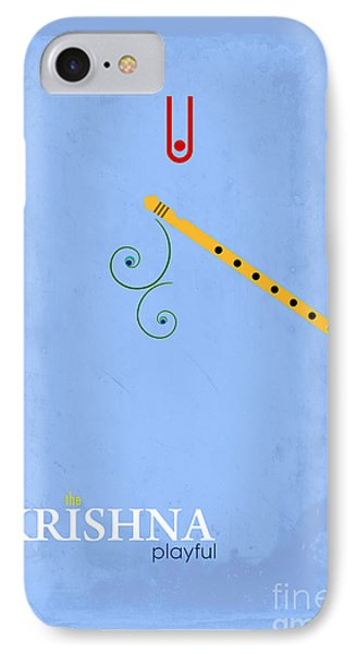 Krishna The Playful IPhone Case by Tim Gainey