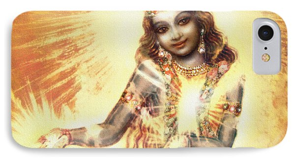 Krishna Vision In The Clouds IPhone Case by Ananda Vdovic