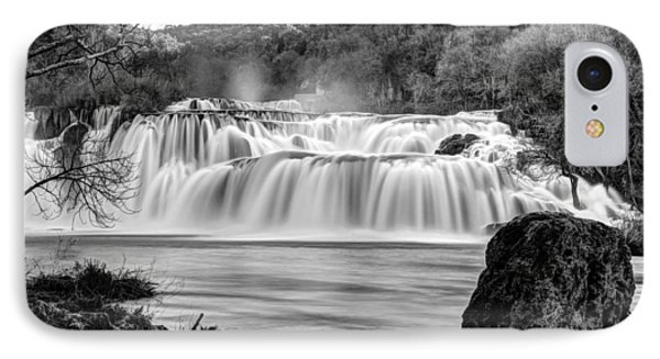 Krka Waterfalls Bw IPhone Case