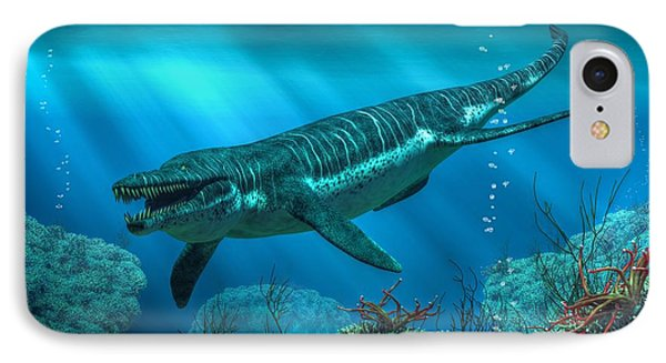Kronosaurus Phone Case by Daniel Eskridge