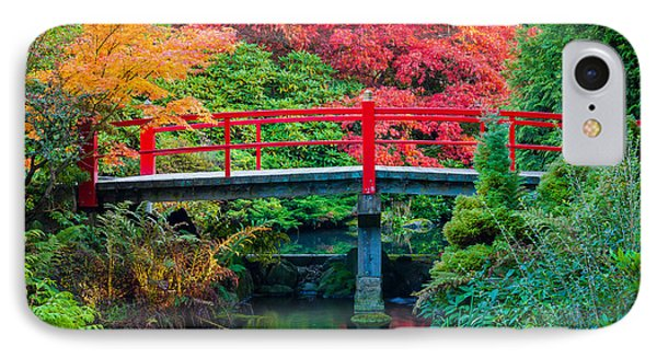 Kubota Gardens Bridge Number 2 IPhone Case by Inge Johnsson